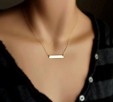 Gold bar necklace house of cocohouse of coco gold bar necklace aloadofball Image collections
