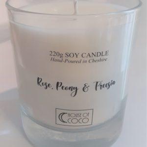 Rose, Peony & Freesia Candle