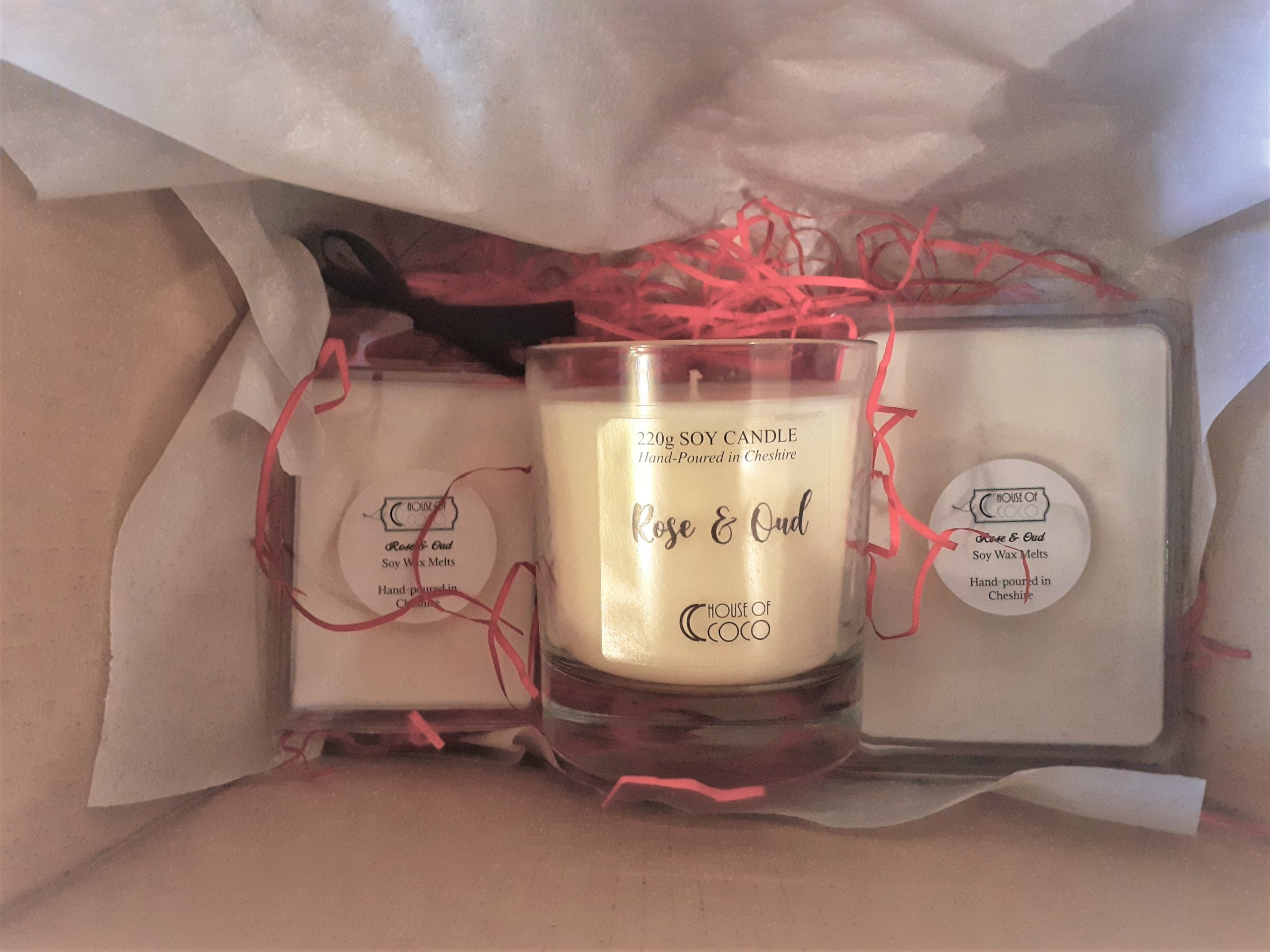 Candle & Wax Melt Valentines Gift Set