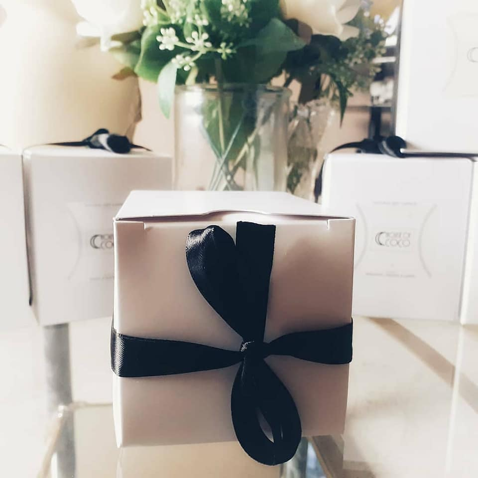 House of Coco Box with Black Ribbon