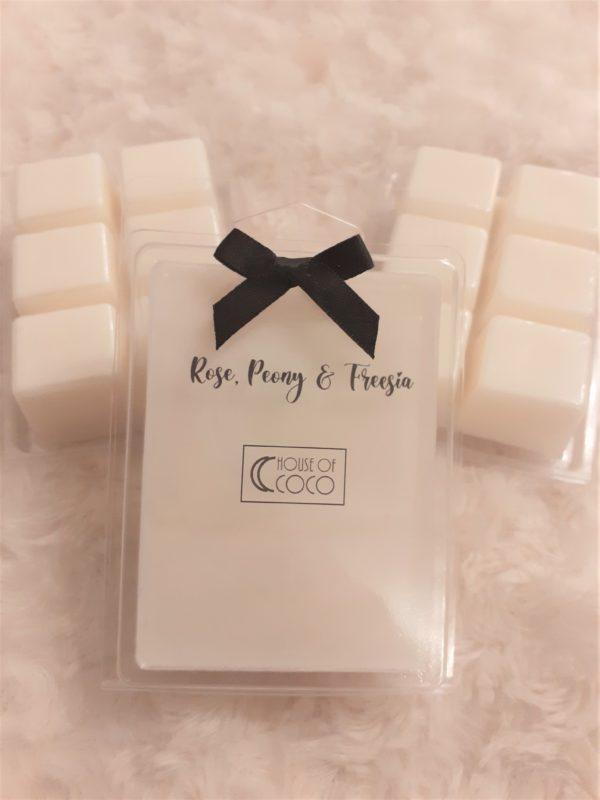 Rose, Peony & Freesia Square Clamshells